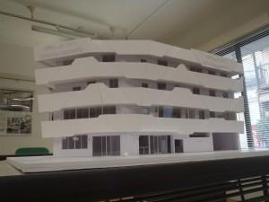 【竹屋町クリニック】完成イメージ模型です<