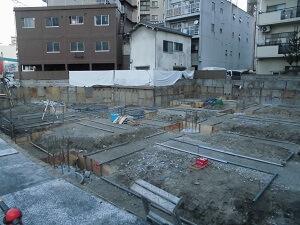 【竹屋町クリニック】掘削工事が完了しました<