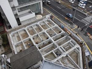 【竹屋町クリニック】基礎コンクリート打設が完了しました<