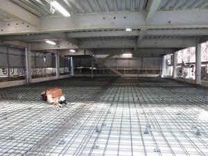 【南区翠町 小児科医院】2階と屋根のコンクリート打設が完了しました<