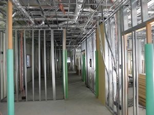 【南区翠町 小児科医院】内部施工状況です<