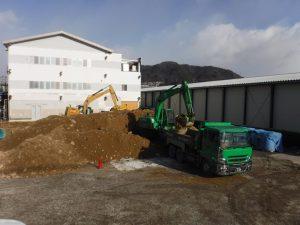 【K食品第2期新築工事】地盤改良工事施工中です<