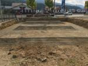 【(仮称)西条町土与丸鍼灸整骨院新築工事】基礎工事・地盤補強工事完了しました<