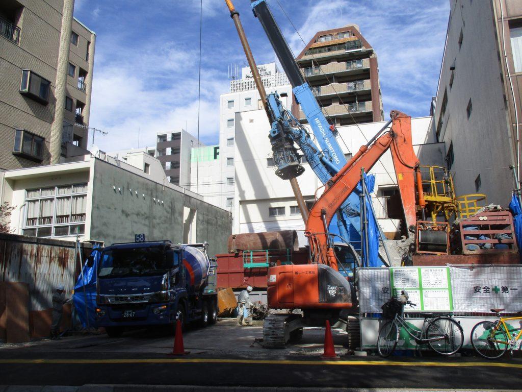 【Aビル新築工事】基礎工事を着手しました<