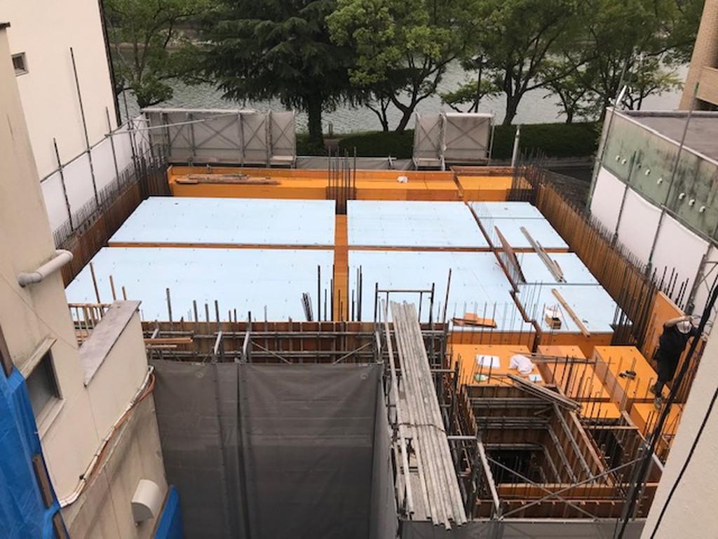 【Aビル新築工事】1階躯体工事施工中です<