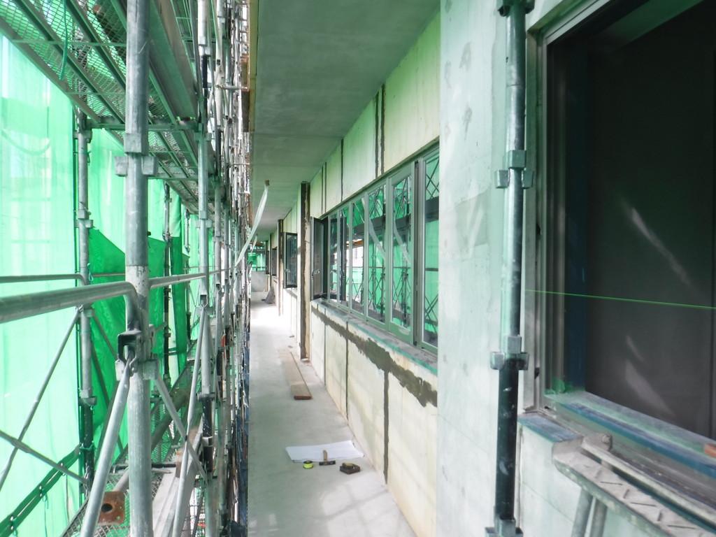 【S社新築工事】4階躯体工事、2階内装工事を行っています<