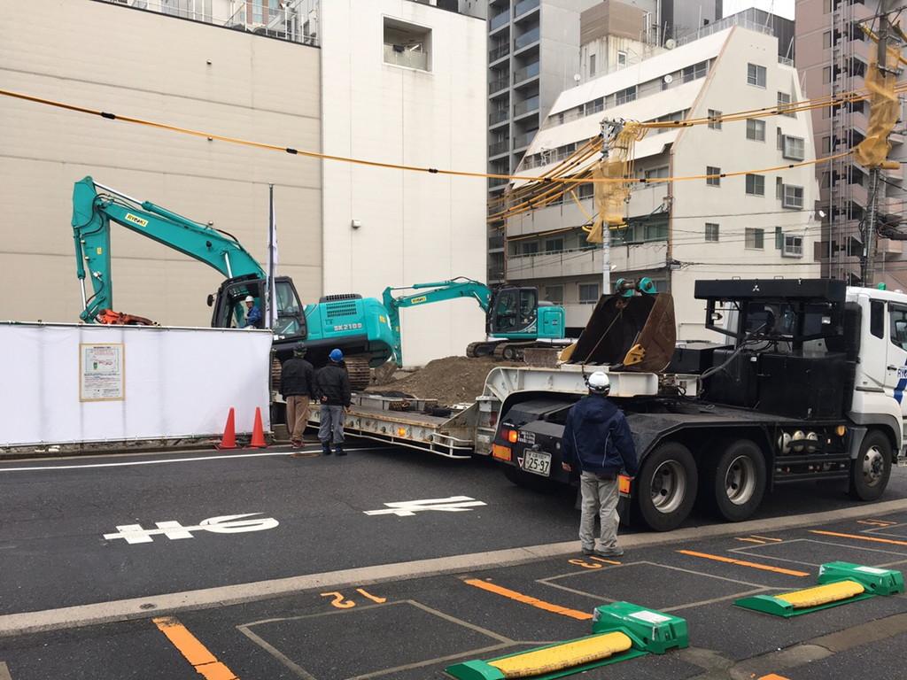 【S病院増築工事】既存基礎解体開始です<