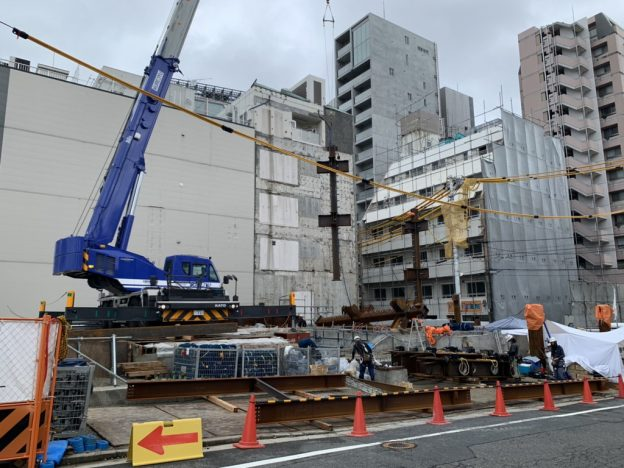 【S病院増築工事】鉄骨建方開始しました<