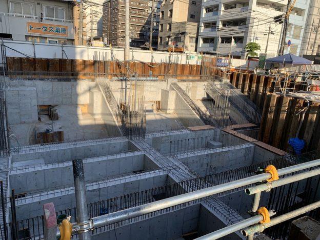 【S病院増築工事】コンクリート出来形状況及び通路足場撤去完了です<