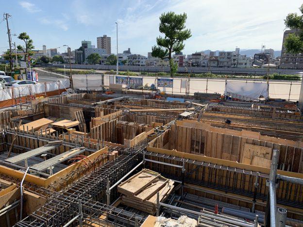 【S病院増築工事】基礎鉄筋配筋完了です<