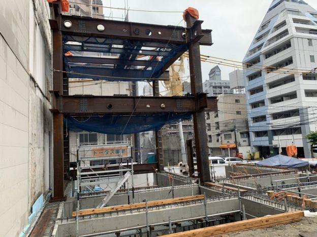 【S病院増築工事】鉄骨建方1工区完了です<