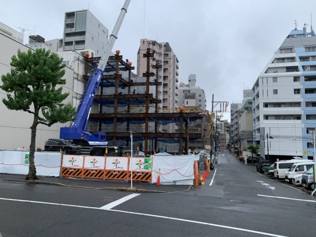 【S病院増築工事】鉄骨建方施工中です<